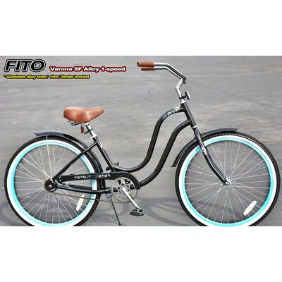 Women's Verona SF Aluminum Alloy 1-Speed Cruiser Bike by Fito