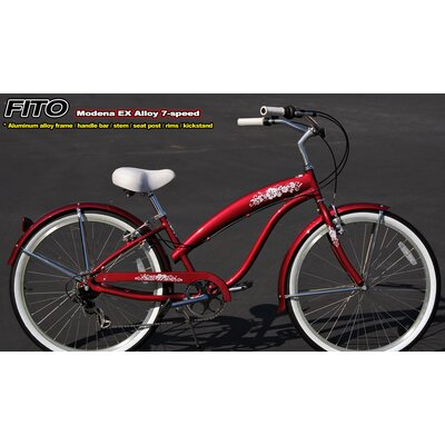 Women's Modena EX Alloy Shimano 7-Speed Beach Cruiser Bike by Fito