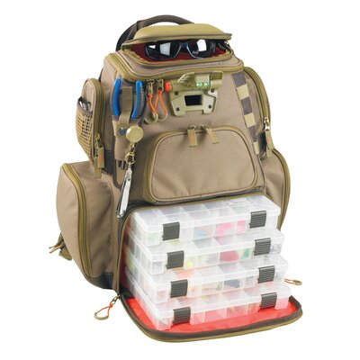 Nomad Lighted Tackle Backpack with Tray by Wild River