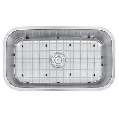 "Ruvati Parmi 31.5"" x 18.25"" Undermount Single Bowl Kitchen Sink"