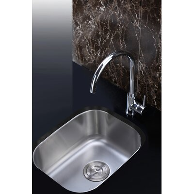 "Parmi 15"" Undermount Single Bowl Bar Sink Product Photo"