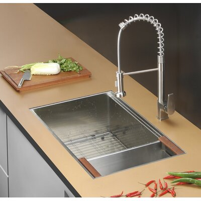 "Roma 32"" x 19"" Undermount Single Bowl Kitchen Sink Product Photo"