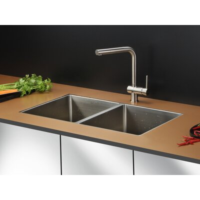 "Gravena 32"" x 19"" Undermount Double Bowl Kitchen Sink Product Photo"