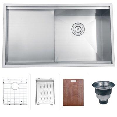 "Roma 33"" x 19"" Undermount Single Bowl Kitchen Sink Product Photo"