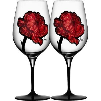 Tattoo Wine Glass by Kosta Boda