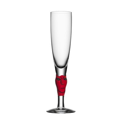 Open Minds Champagne Glass by Kosta Boda
