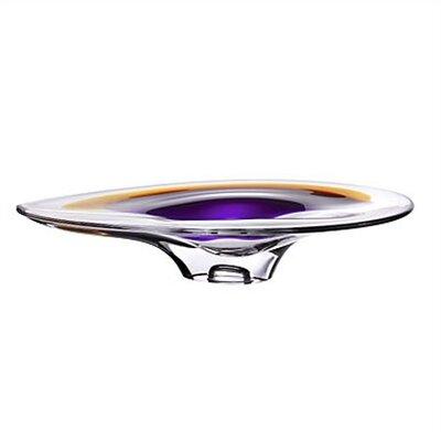 """Kosta Boda Orchid 17"""" Round Platter"""