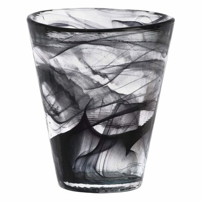 Mine Black Tumbler Glass by Kosta Boda