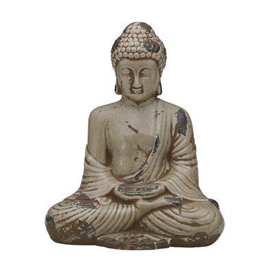 Brown Ceramic Buddha Figurine by Bombay