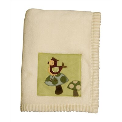 Enchanted Forest Plush Blanket with Applique by Lambs & Ivy