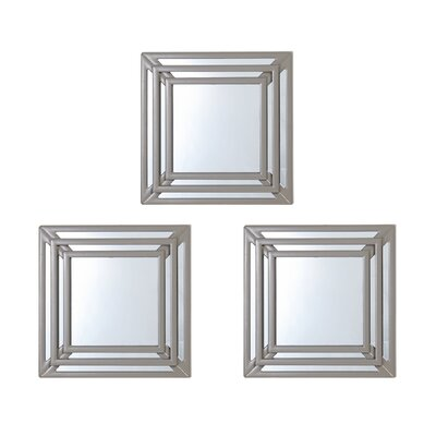 Triple Square Wall Mirrors by Elements