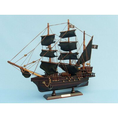 Handcrafted Nautical Decor John Halsey's Charles Pirate Model Ship