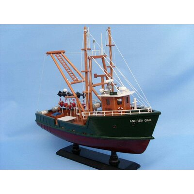 Handcrafted Nautical Decor Andrea Gail - The Perfect Storm Fishing Model Boat