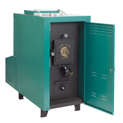 140,000 BTU Outdoor Wood Coal Burning Forced Air Furnace Product Photo