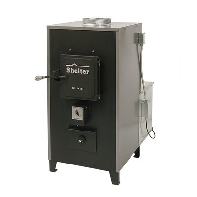 100,000 BTU Indoor Wood Coal Burning Forced Air Furnace Product Photo