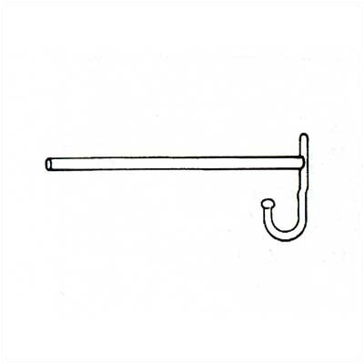 Penco Misc. Locker Parts - Single Prong Wall Hook, For Use with Coat Rod