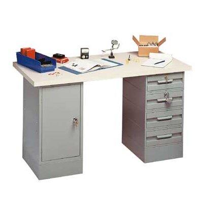 Penco Modular Laminated Maple Hardwood Top Workbench