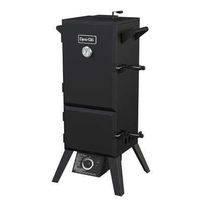 "19"" Double Door Vertical Propane Smoker with Adjustable Cook Grate by Dyna-Glo"