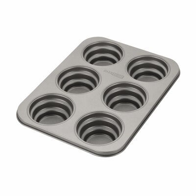 Novelty 6 Cup Round Cakelette Pan by Cake Boss