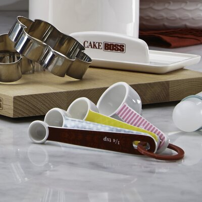 4 Piece Countertop Accessories Melamine Measuring Spoon Set by Cake Boss