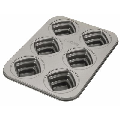 Novelty 6 Cup Square Cakelette Pan by Cake Boss