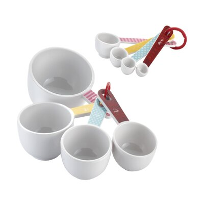 Countertop Accessories 8 Piece Measuring Cup & Spoon Set by Cake Boss