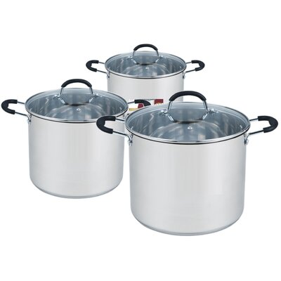 6-Piece Non-Stick Stainless Steel Cookware Set by Meglio