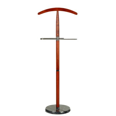 Cambridge Suit Valet Stand in Cherry Wood by Cortesi Home