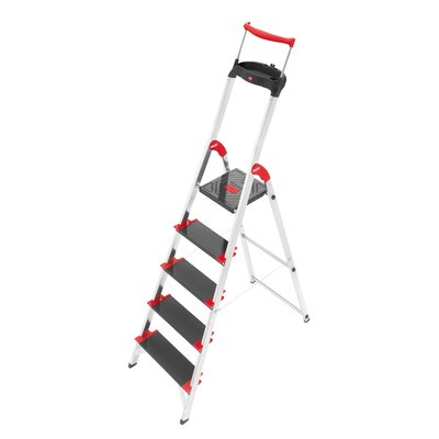 Hailo USA Inc. Championsline 5.51 ft Aluminum Step Ladder with 495 lb. Load Capacity