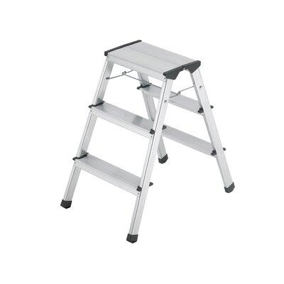 Hailo USA Inc. L90 3-Step Aluminum Step Stool with 330 lb. Load Capacity