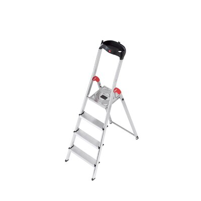 Hailo USA Inc. L60 4.79 ft Aluminum Step Ladder with 330 lb. Load Capacity