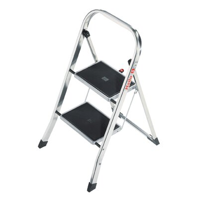 Hailo USA Inc. K30 2-Step Aluminum Step Stool with 330 lb. Load Capacity