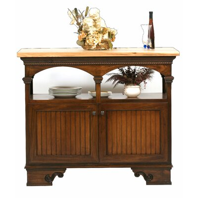 American Premiere Kitchen Island with Butcher Block Top Product Photo