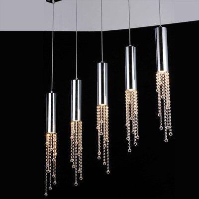 Jael 5 Light Pendant by Bromi Design