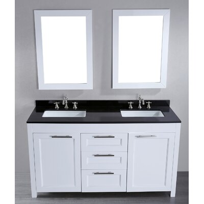 contemporary 60 double bathroom vanity set with mirror product