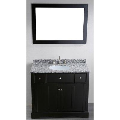 Bosconi Contemporary 39 Single Bathroom Vanity Set With Mirror