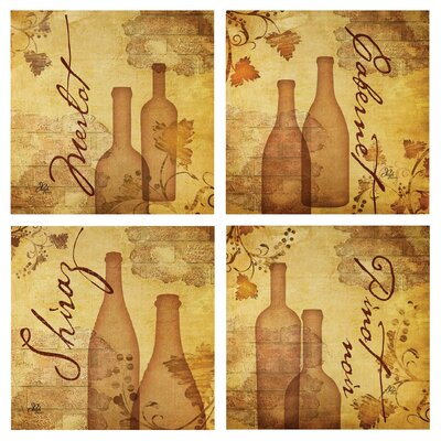 4 Piece Aged Wine Occasions Coasters Set by Thirstystone