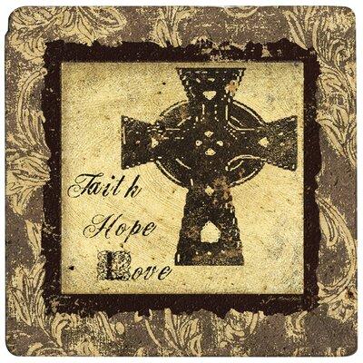 Ambiance Cross of Faith Travertine Trivet by Thirstystone