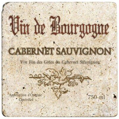 Ambiance Cabernet Wine Label Travertine Trivet by Thirstystone