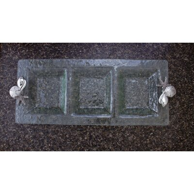 Thirstystone Shells 3-Section Rectangular Divided Serving Dish