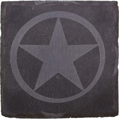 Etched Western Star Slate Coaster by Thirstystone