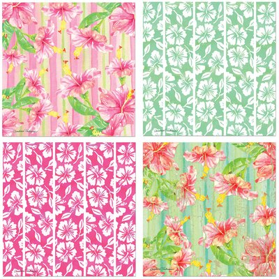 4 Piece Hibiscus Garden Occasions Coasters Set by Thirstystone