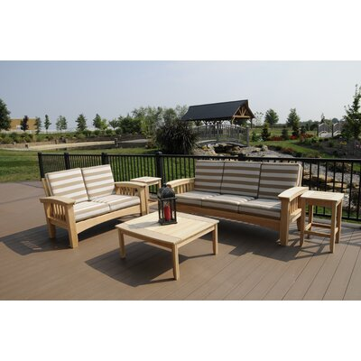 Days End 5 Piece Deep Seating Group with Cushion by Hershy Way