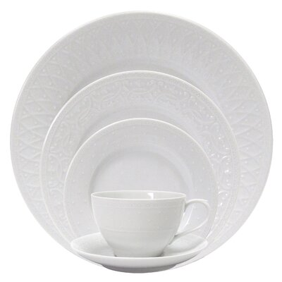 Blanc Fleur 5 Piece Place Setting by Nikko Ceramics