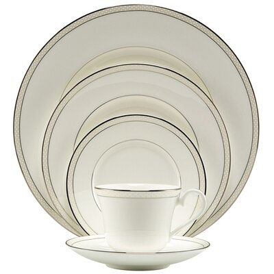 Platinum Beaded Pearl 5 Piece Place Setting by Nikko Ceramics