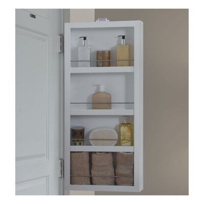 "4"" Deep Mirrored Mini Storage Cabinet Product Photo"