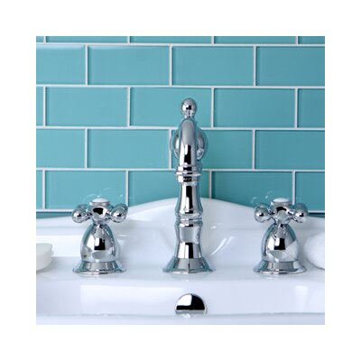 Heritage Double Handle Widespread Bathroom Faucet with Brass Pop-Up Drain Product Photo