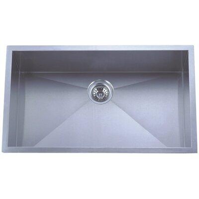 "Towne Square 30"" x 18"" Undermount 18 Gauge Single Bowl Kitchen Sink Product Photo"