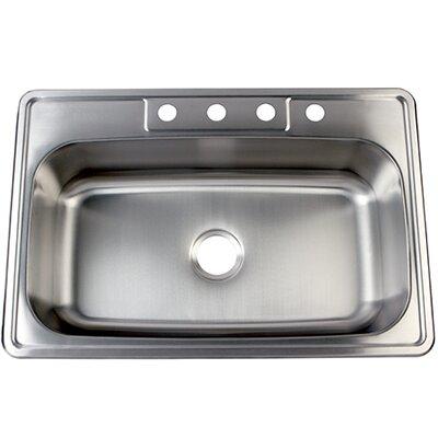 "Studio 22"" x 33"" Gourmetier Self Rimming Single Bowl Kitchen Sink Product Photo"