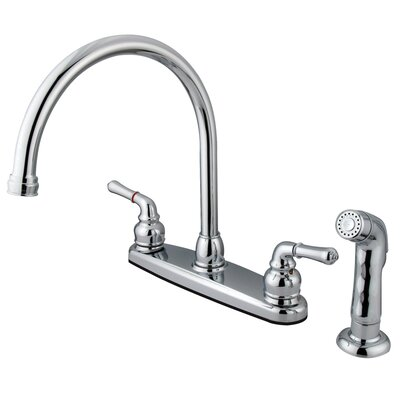 Magellan Double Handle Kitchen Faucet with Non-Metallic Side Spray Product Photo